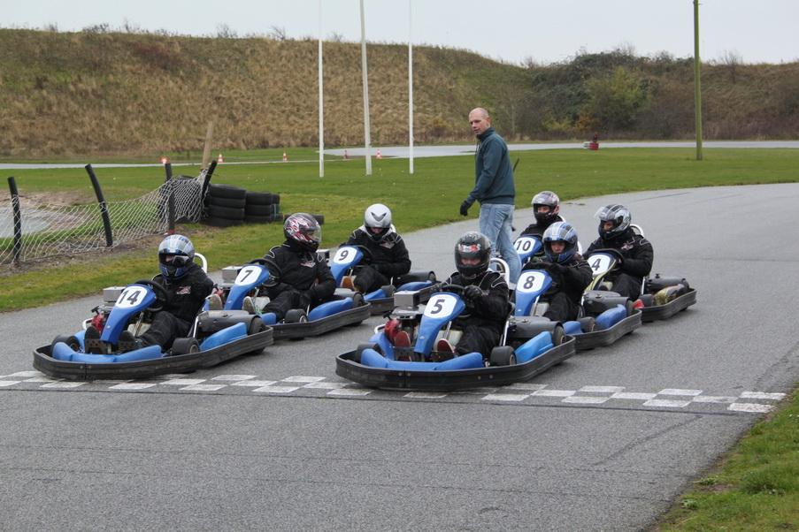 Motorsporten.dk - Go Kart - Dansk Metal Racer Skole besøgte Gokart Center Skærbæk